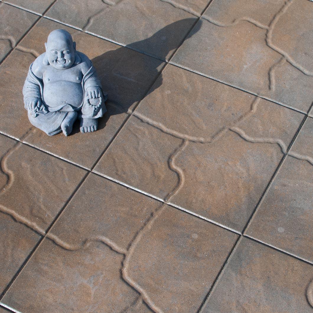 Fieldstone Mocha with Laughing Buddha