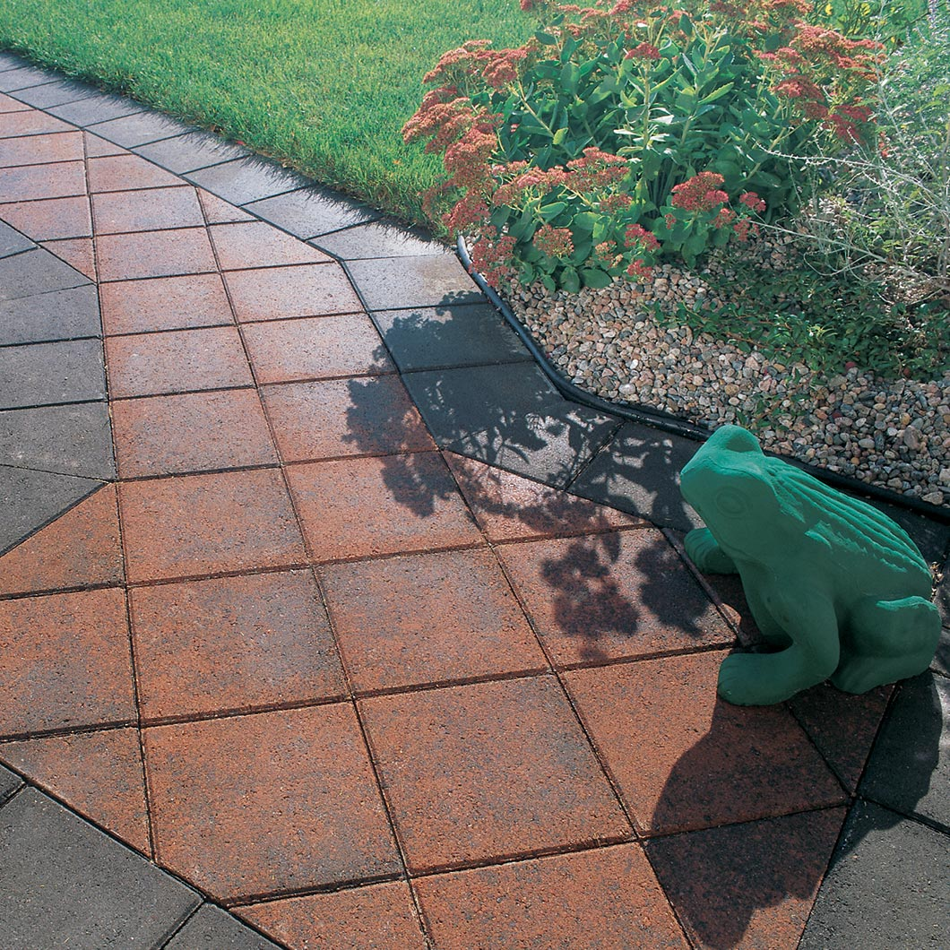 Handy Paver 4 cm red range and charcoal