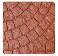Cobble Pattern Red