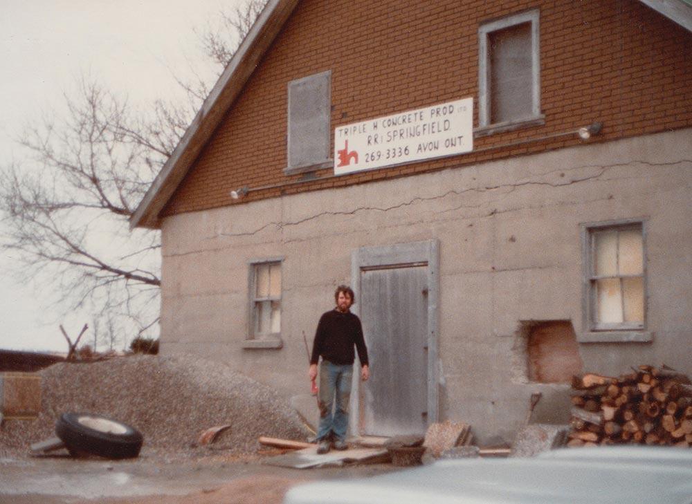 Albert Senior at the original Triple H building